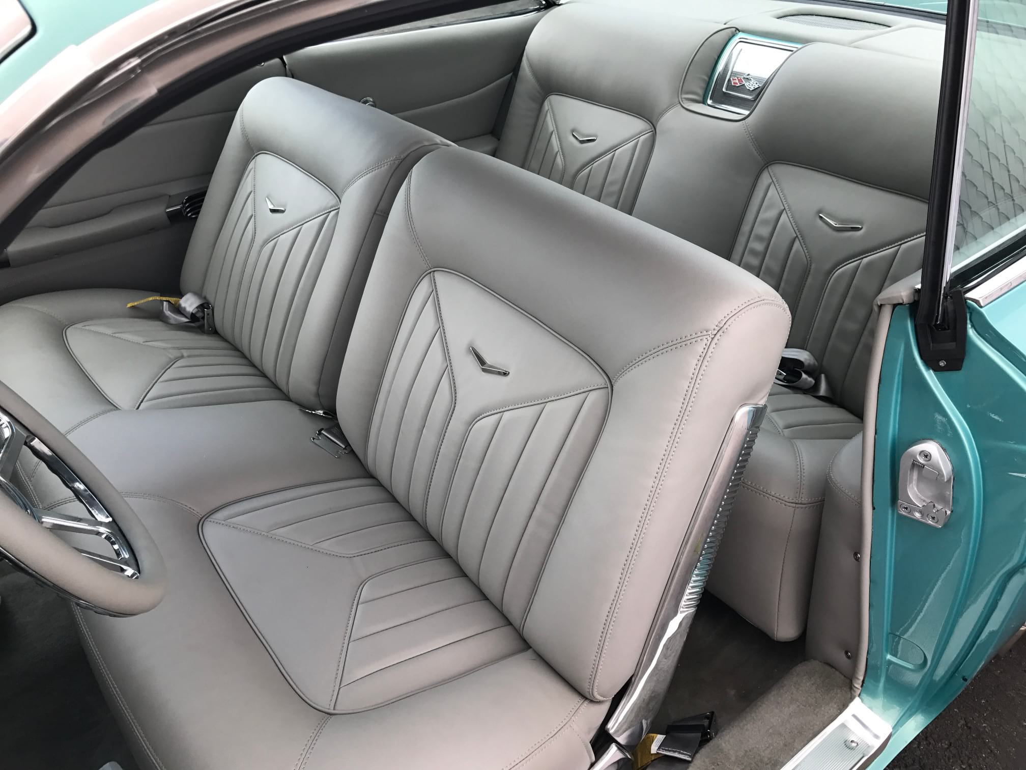 newly upholstered car seat