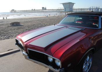 car's shiny hood