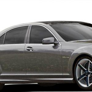 2007-2013 Mercedes S Class W221 Vaero S63 Look Side Skirt Rocker Panels - 2 Pieces