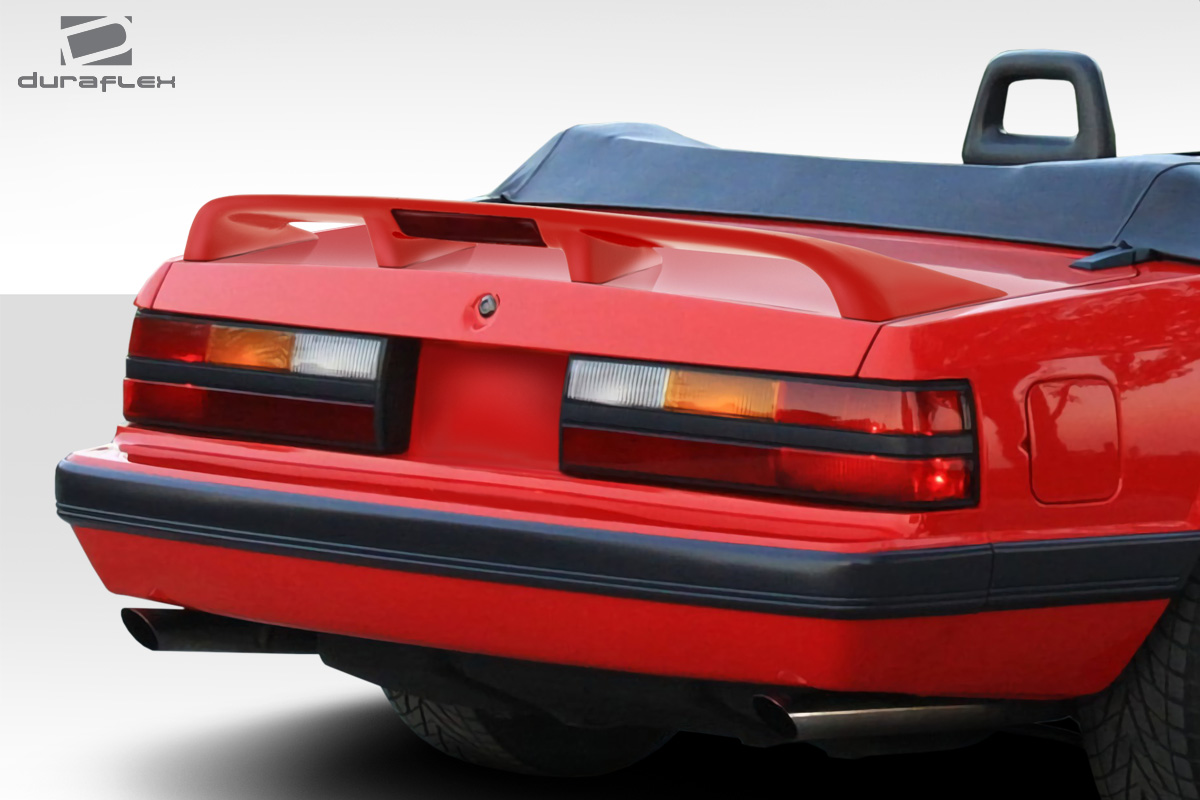 1979-1993 Ford Mustang Coupe / Convertible Duraflex Cobra Look Rear Wing Spoiler - 1 Piece