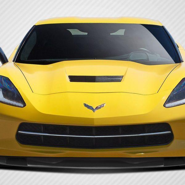 2014-2018 Chevrolet Corvette C7 Carbon Creations DriTech Thunderbolt Front  Lip Under Air Dam Spoiler - 1 Piece