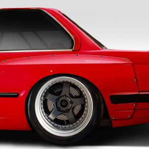 1984-1991 BMW 3 Series E30 Duraflex TKO Wide Body Rear Fender Flares 70mm - 2 Piece