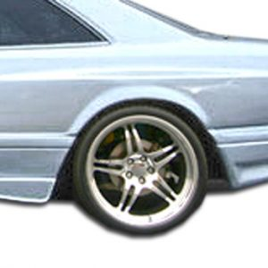 1981-1991 Mercedes S Class W126 2DR Duraflex AMG Look Wide Body Rear Fender Flares - 2 Piece