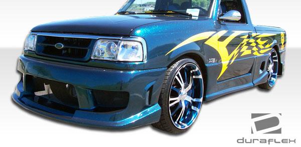 Duraflex Drifter Rear Bumper Cover 1 Piece for 1993-1997 Ford Ranger