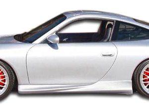 1999-2004 Porsche 911 Carrera 996 C2 C4 Polyurethane T-Sport Side Skirts Rocker Panels - 2 Piece (Overstock)
