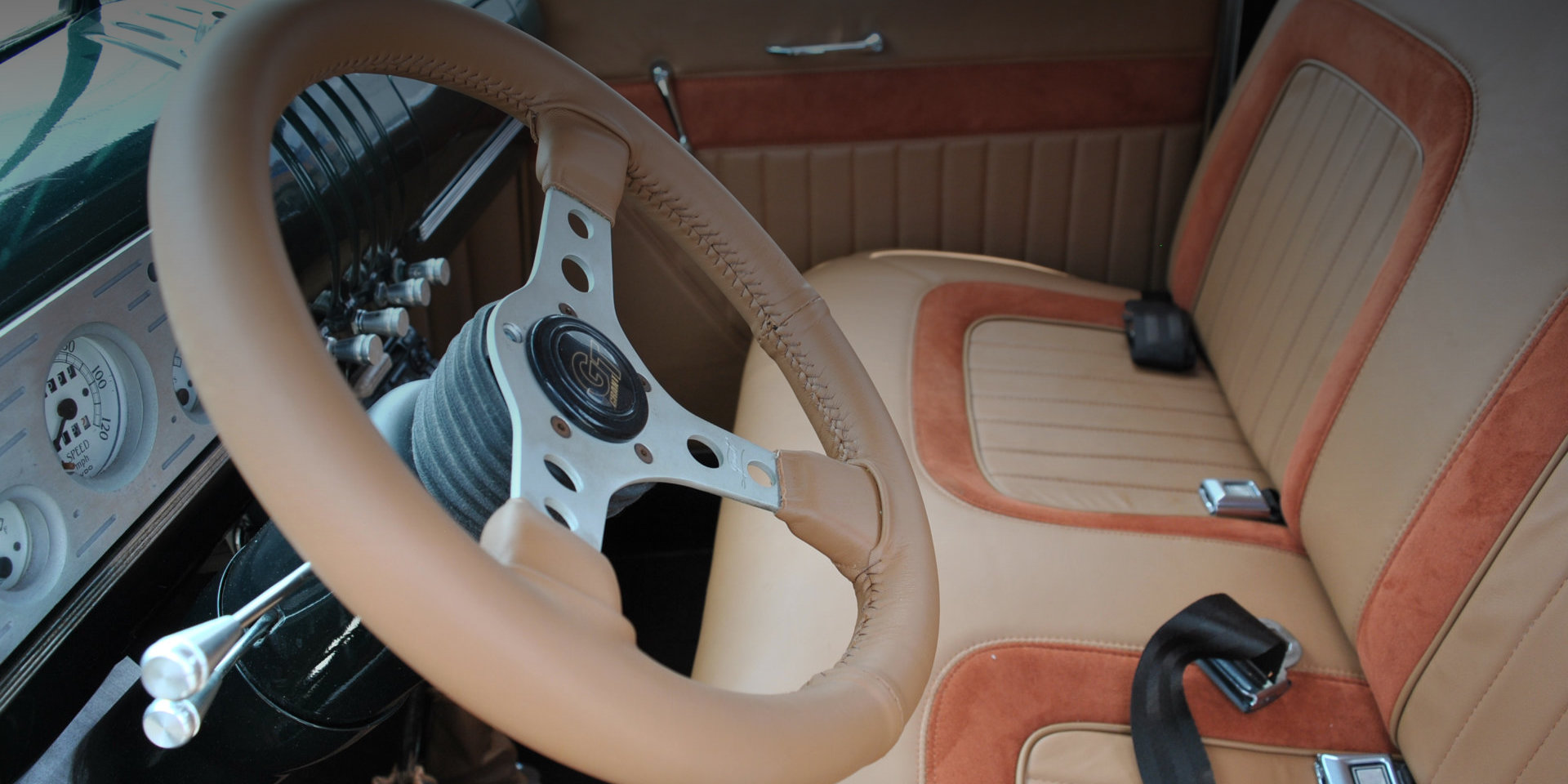 vintage car wheel