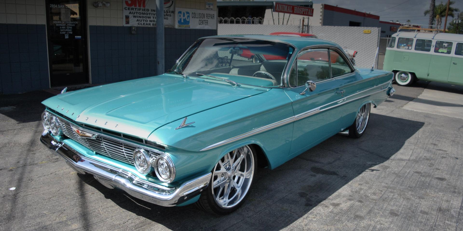 vintage skyblue auto