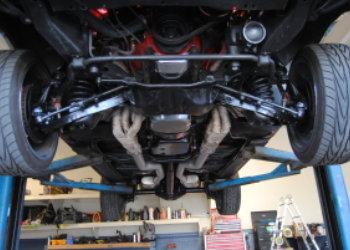 machine under the car