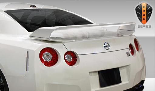 2009-2018 Nissan GT-R R35 Eros Version 1 Rear Wing Trunk Lid Spoiler - 1 Piece (Overstock)