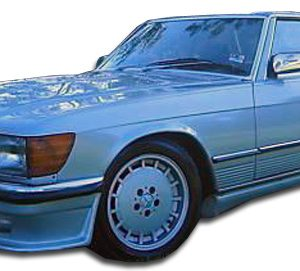 1971-1973 Mercedes SL Class R107 SLC W107 Duraflex LR-S Front Lip Under Spoiler Air Dam - 1 Piece