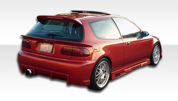 1992-1995 Honda Civic HB Duraflex Mid Wing Trunk Lid Spoiler - 3 Piece
