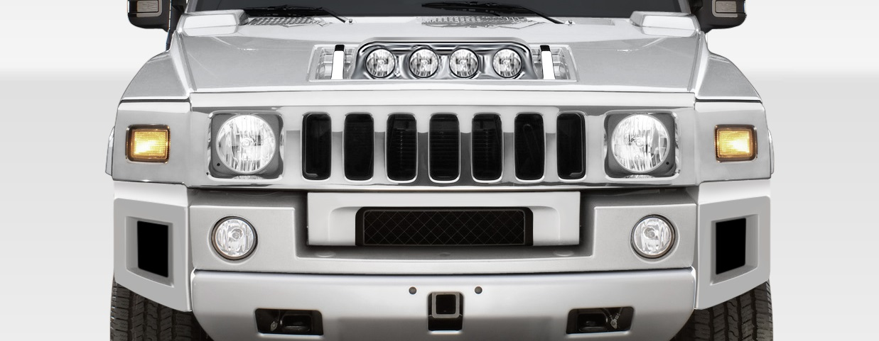 2003-2009 Hummer H2 Duraflex BR-N Foglight Panel for Hood - 1 Piece