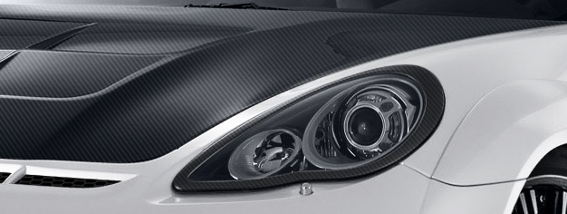 2010-2013 Porsche Panamera Carbon AF-1 Wide Body Eye Lids ( CFP ) - 2 Piece
