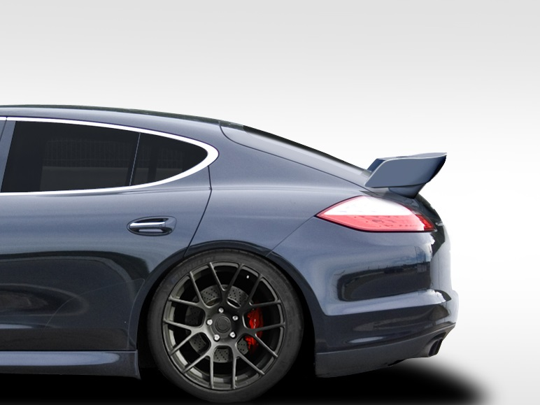 2010-2013 Porsche Panamera Eros Version 5 Wing Trunk Lid Spoiler - 1 Piece