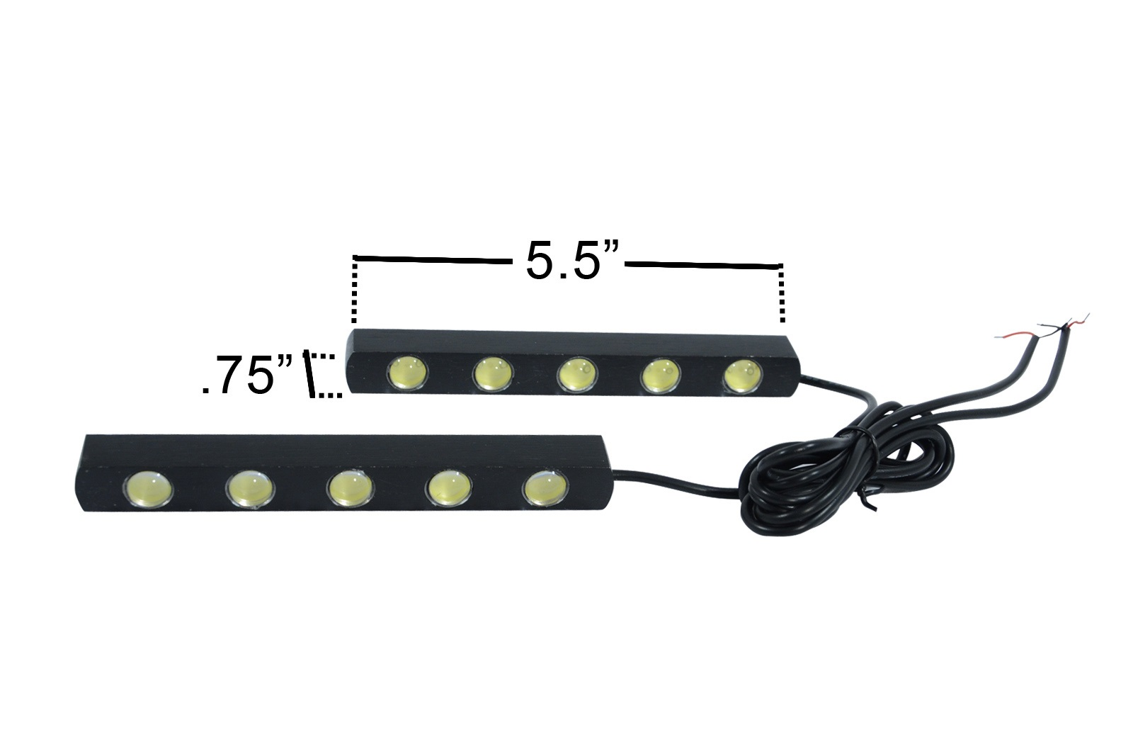 Universal LED Daytime Running Light 5 - 2 Piece (S)