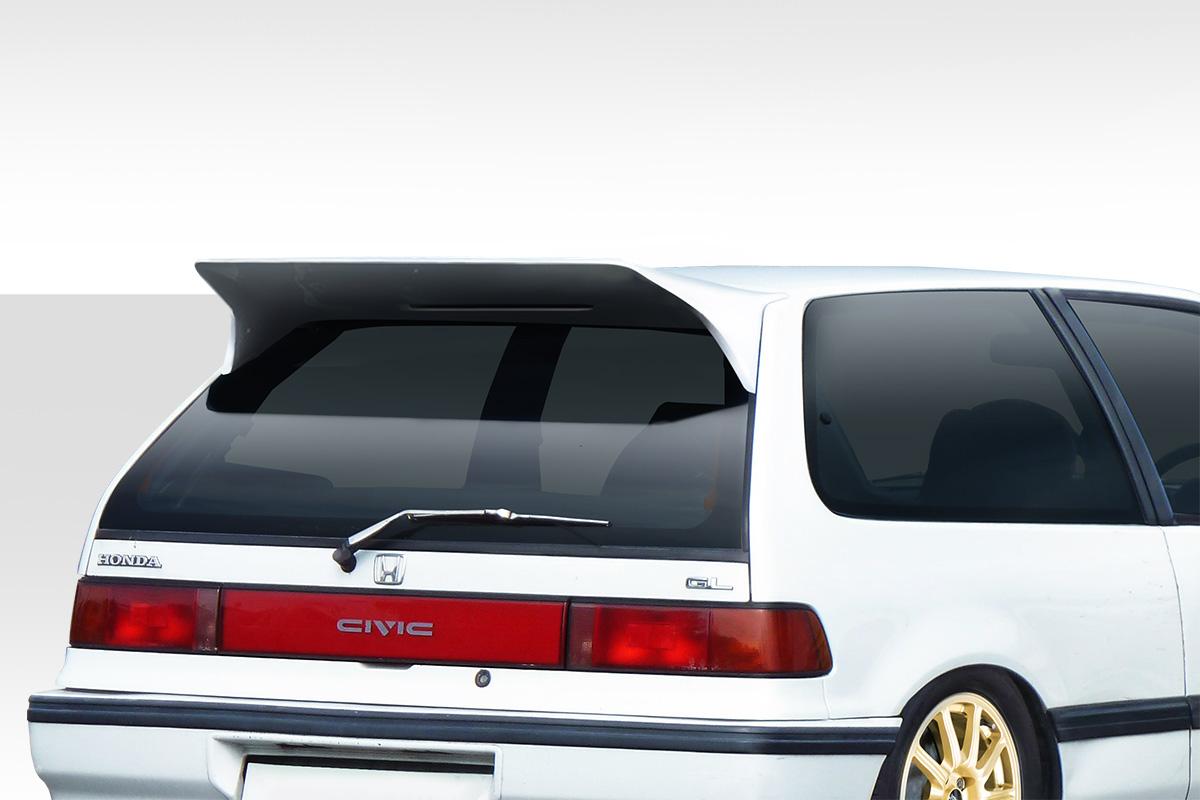 1988-1991 Honda Civic HB Duraflex JS Wing Spoiler - 1 Piece