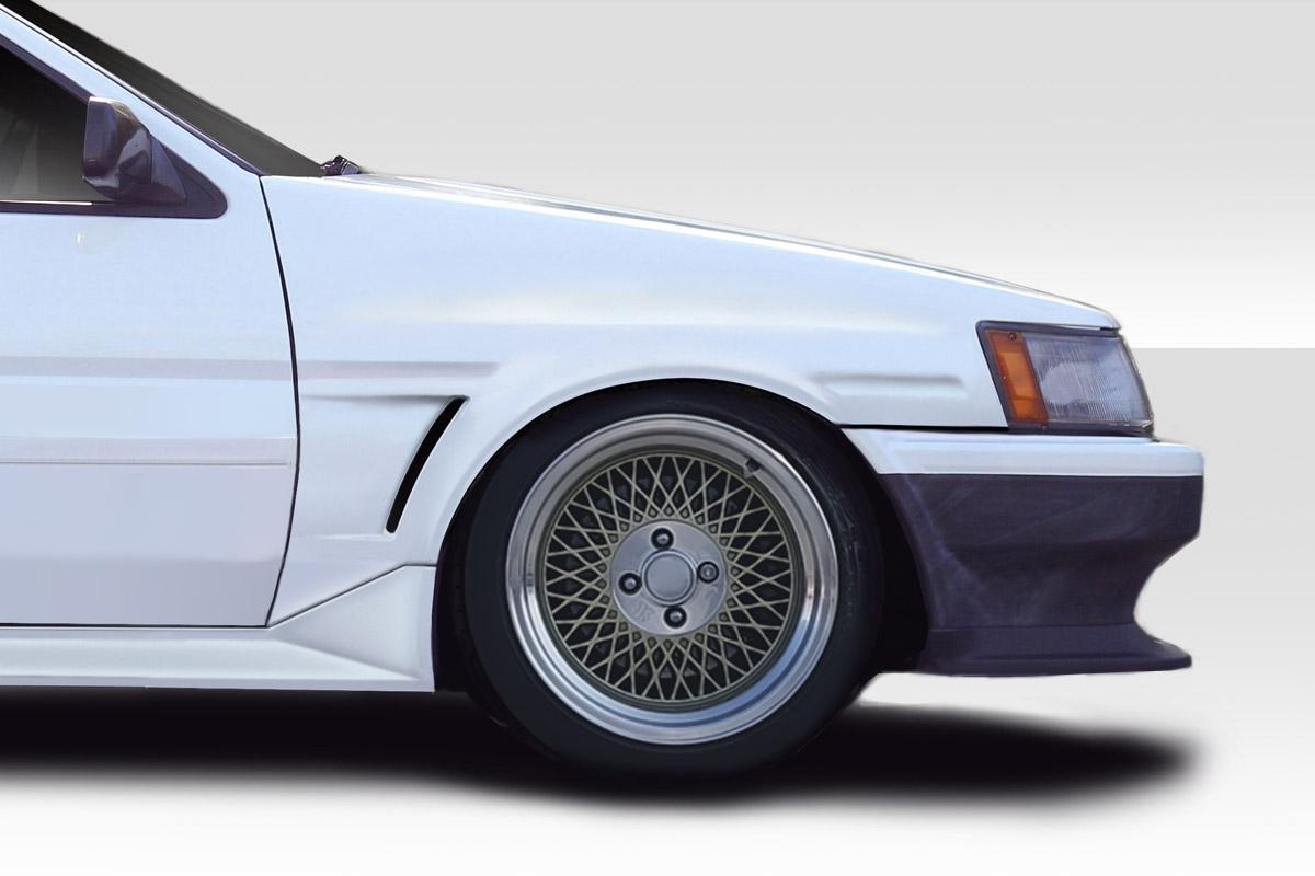 1984-1987 Toyota Corolla Levin 2DR / HB Duraflex JB Sport 20mm Front Fenders - 2 Piece