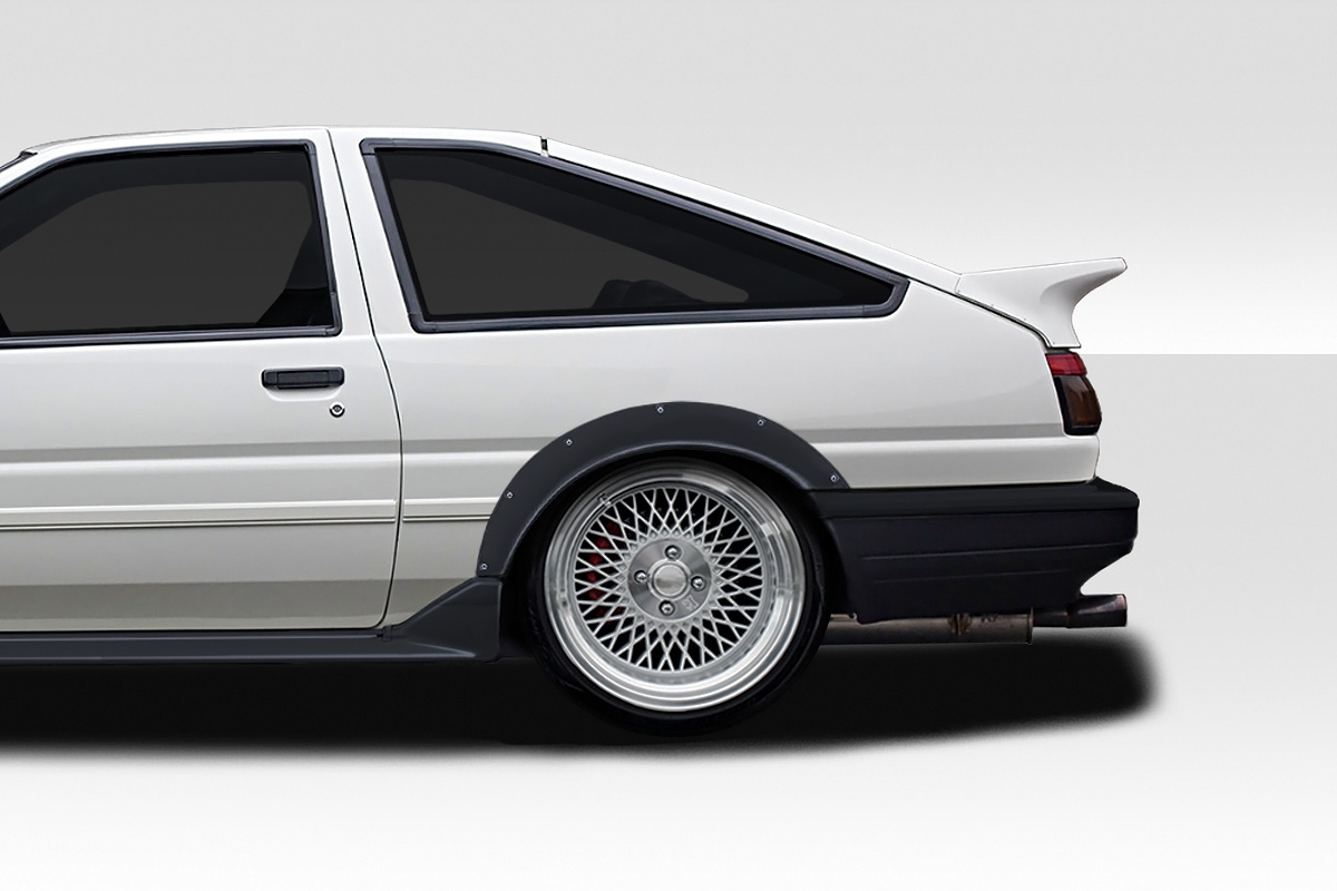 1984-1987 Toyota Corolla HB Duraflex O Style 35mm Wide Body Rear Fenders - 2 Piece