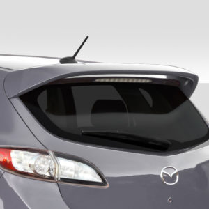 2010-2013 Mazda 3 Duraflex Turbo Look Rear Roof Wing Spoiler- 1 Piece