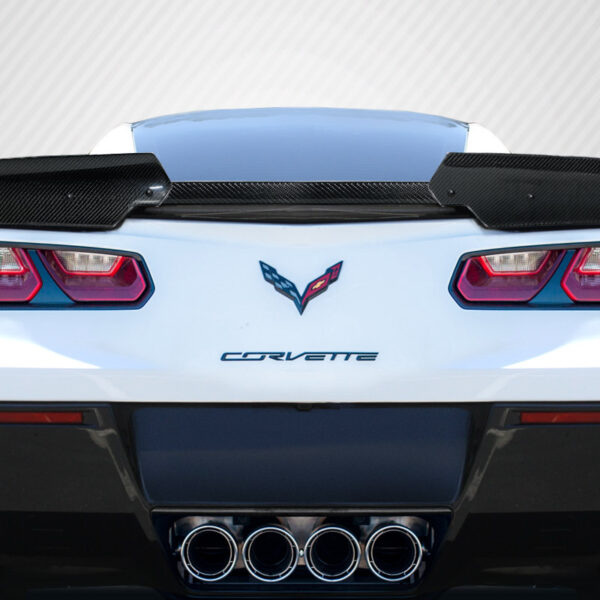 2014-2019 Chevrolet Corvette C7 Carbon Creations Wickerbill Rear Wing Spoiler - 3 Piece