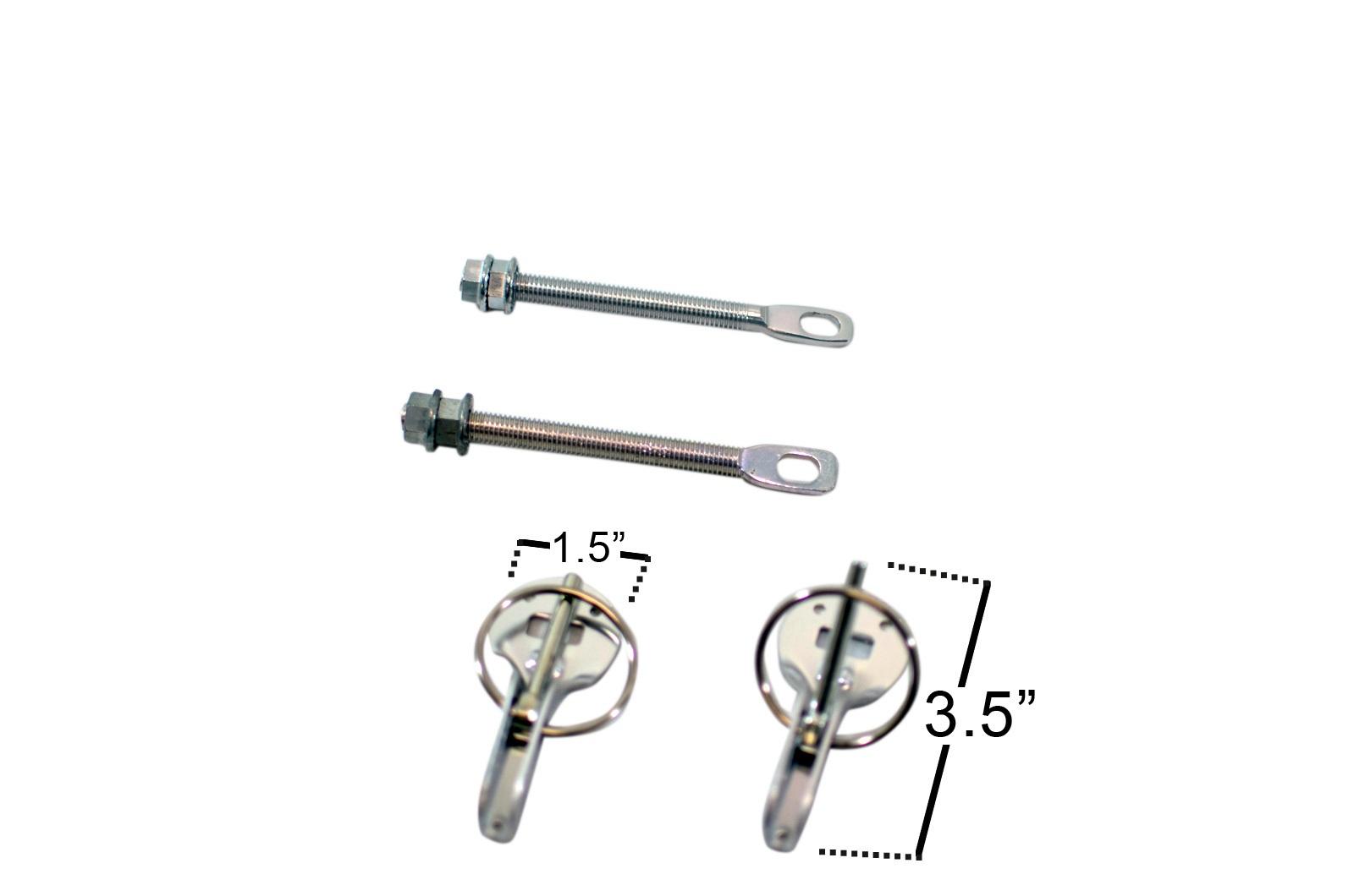 Universal Hood Pins - 4 Piece