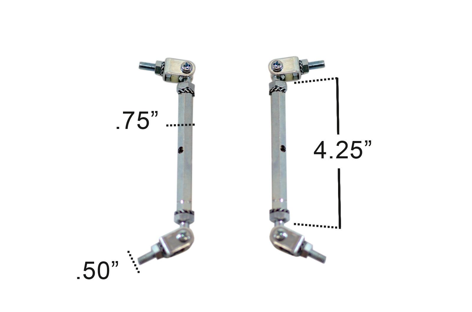 Universal Splitter Rods 100mm - 2 Piece