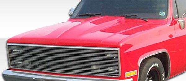 1981-1986 Chevrolet GMC C Series / K Series 1987-1991 R / V Pickup Duraflex Cowl Hood - 1 Piece