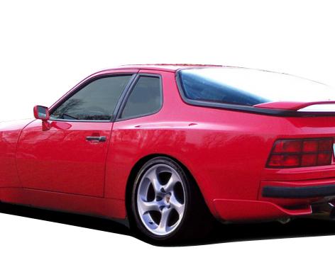 1977-1988 Porsche 924 Duraflex Turbo 944 Look Rear Fender Flares - 2 Piece (S)