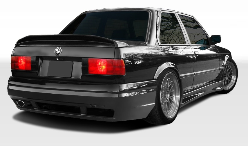 1984-1991 BMW 3 Series E30 2DR 4DR Duraflex GT-S Rear Bumper Cover - 1 Piece