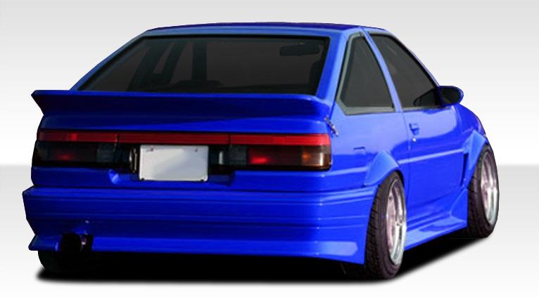 1984-1987 Toyota Corolla 2DR / HB Duraflex RF Design Rear Bumper Cover - 1 Piece