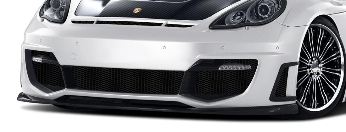 2010-2013 Porsche Panamera Carbon AF-1 Wide Body Front Bumper LED Cover ( CFP ) - 2 Piece (S)