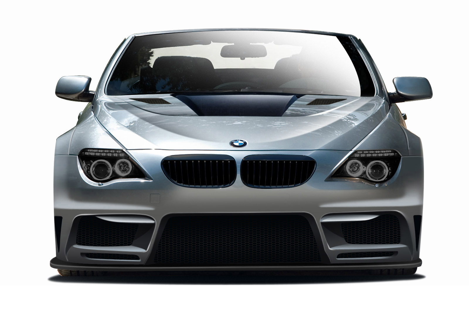 2004-2010 BMW 6 Series E63 E64 2DR Convertible AF-2 Wide Body Front Bumper Cover ( GFK ) - 1 Piece