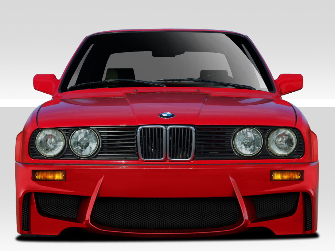 1984-1991 BMW 3 Series E30 Duraflex 1M Look Front Bumper Cover - 1 piece