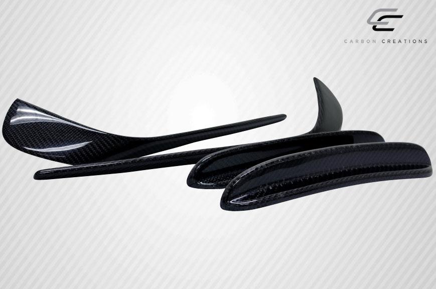 2014-2015 Mercedes CLA Class Carbon Creations Black Series Look Front Bumper Accessories - 4 Piece (S)