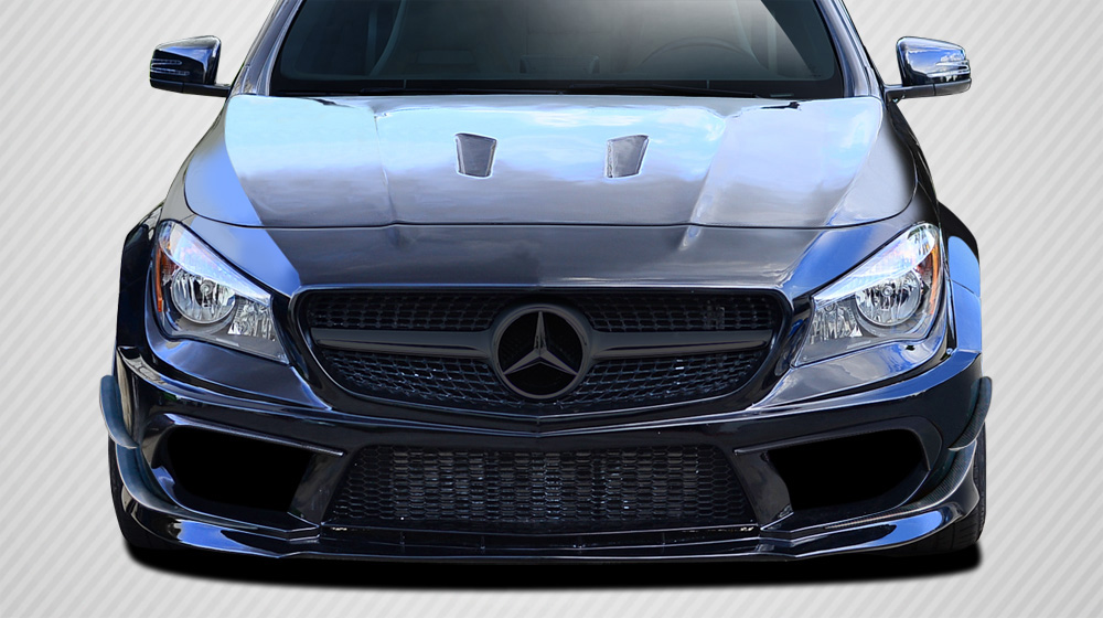 2014-2015 Mercedes CLA Class Carbon Creations Black Series Look Wide Body Front Bumper Accessories - 6 Piece (S)