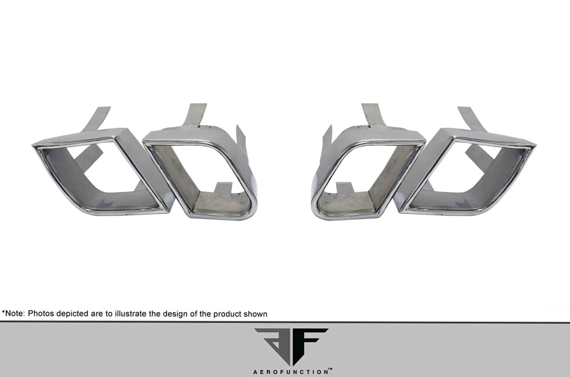 2011-2014 Porsche Cayenne AF-4 Exhaust Tips - 4 Piece (S)