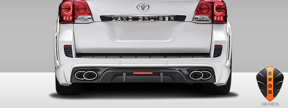 2013-2015 Toyota Land Cruiser Eros Version 1 Exhaust Tips - 2 Piece