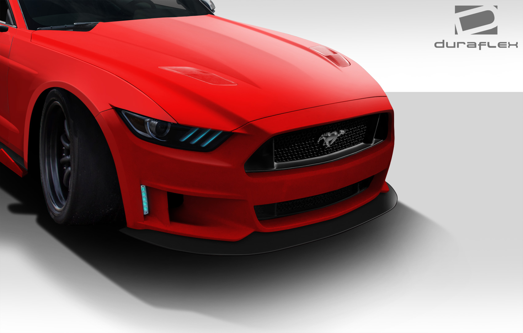 2015-2017 Ford Mustang Duraflex Grid Front Bumper Cover - 1 Piece