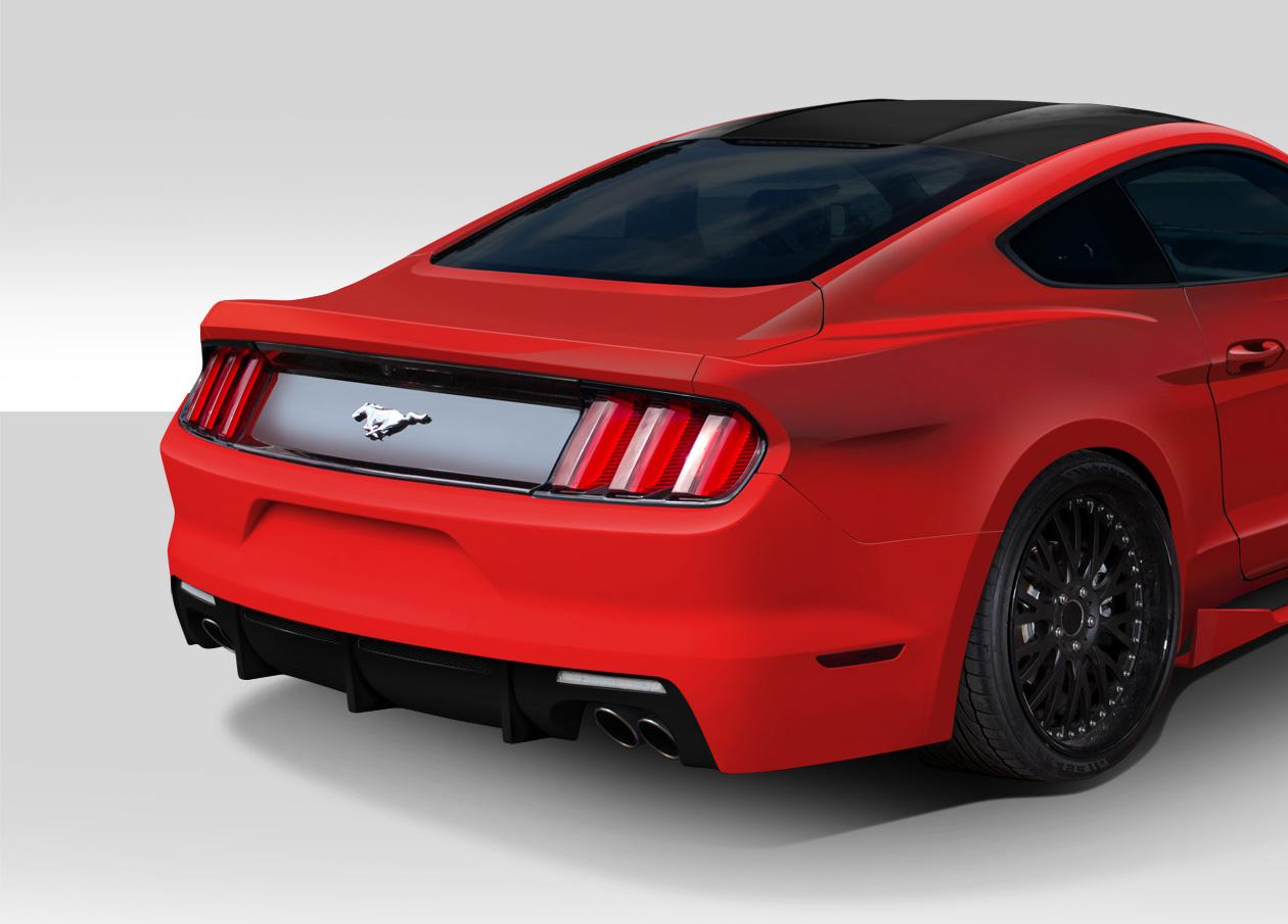 2015-2017 Ford Mustang Duraflex Grid Rear Bumper Cover - 1 Piece