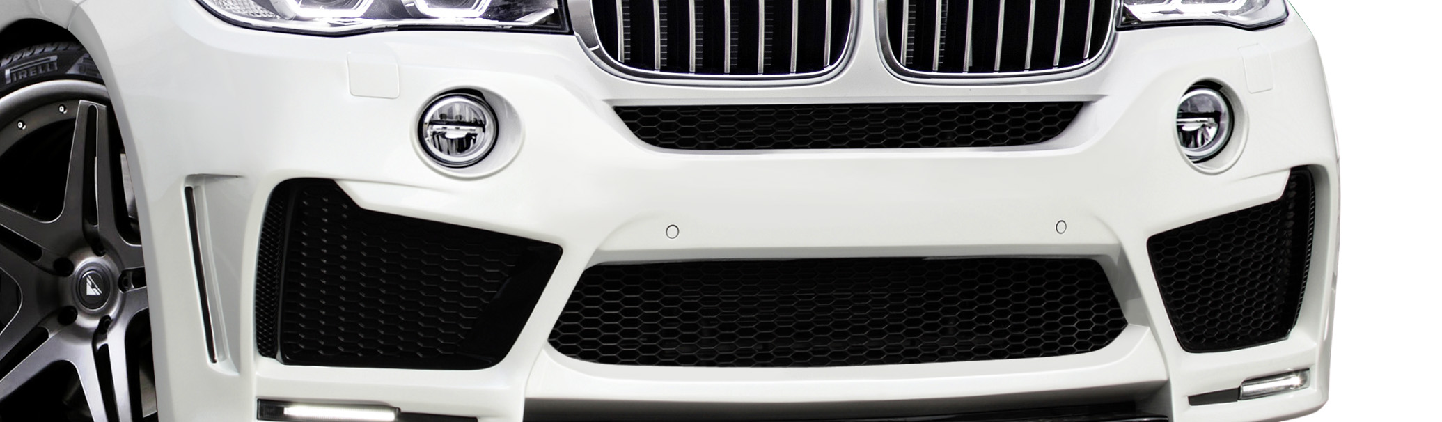 2014-2018 BMW X5 F15 AF-1 Wide Body Front Bumper Air Intake ( GFK ) - 2 Piece (S)