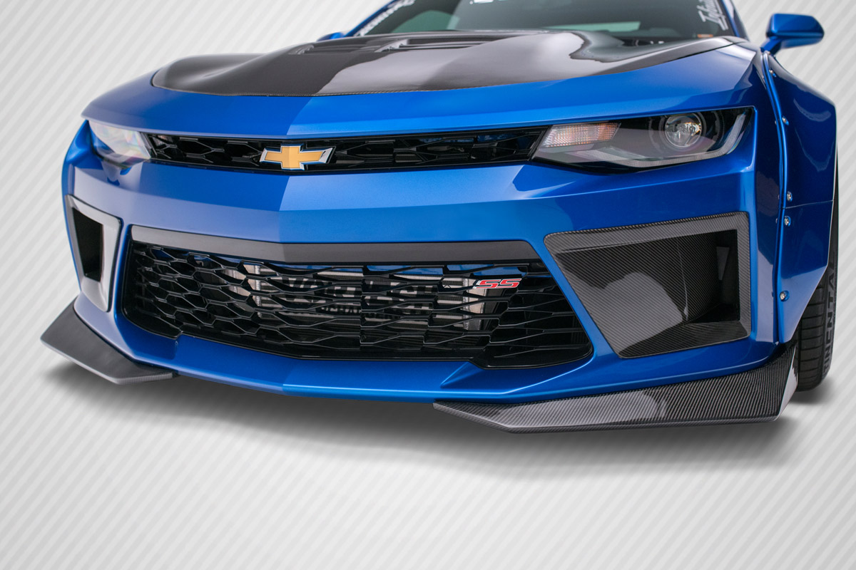 2016-2018 Chevrolet Camaro Carbon Creations DriTech Grid Front Bumper Air Duct Extensions Add Ons Spat Extensions - 2 Piece