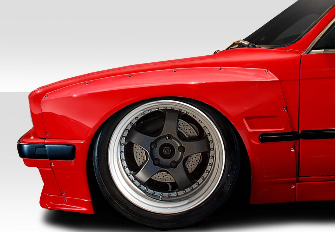 1984-1991 BMW 3 Series E30 Duraflex TKO Wide Body Front Fender Flares 50mm - 4 Piece