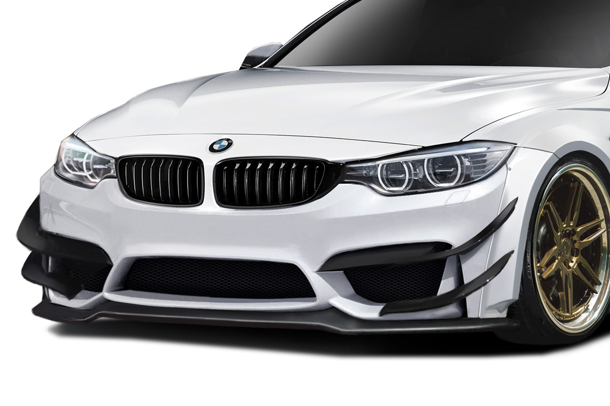 2014-2020 BMW 4 Series F32 AF-1 Wide Body Canards ( GFK ) - 4 Piece ( Must be used with Couture M4 Look Front Bumper and Front Fenders )