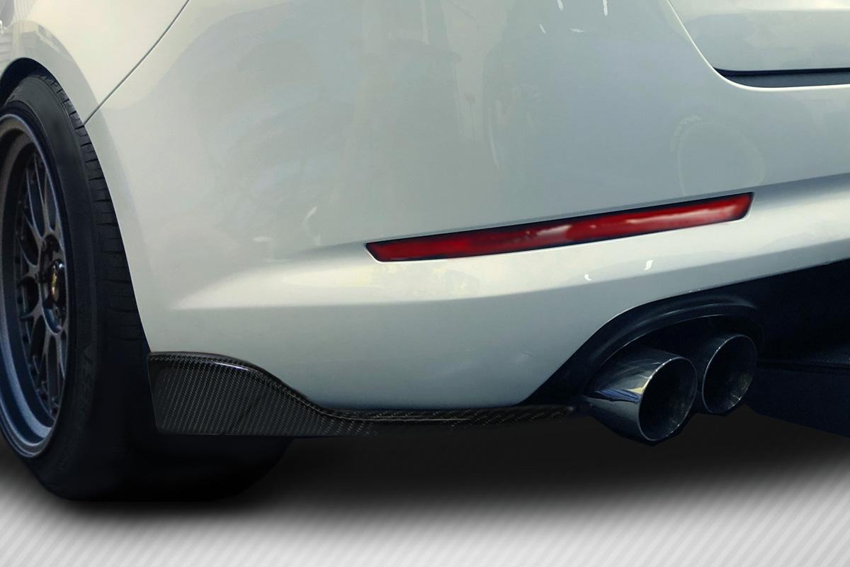 Universal Carbon Creations Front / Rear Type 2 Winglet Splitters - 2 Piece