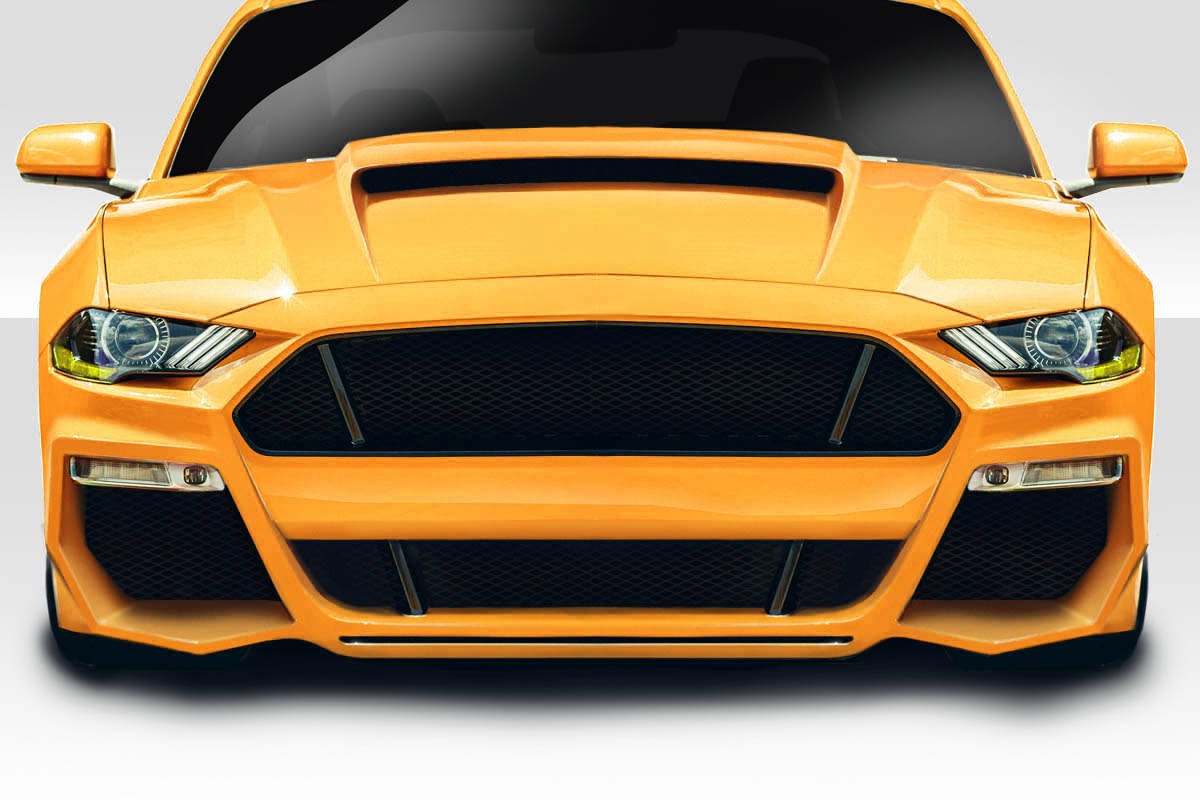 2018-2020 Ford Mustang Duraflex Grid Front Bumper Cover - 1 Piece