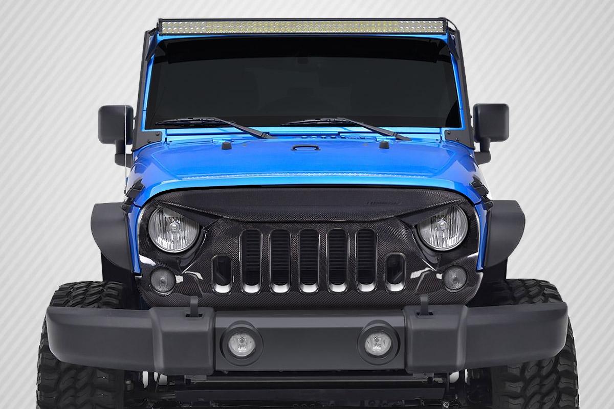 2007-2018 Jeep Wrangler Carbon Creations Predator Grille - 1 Piece