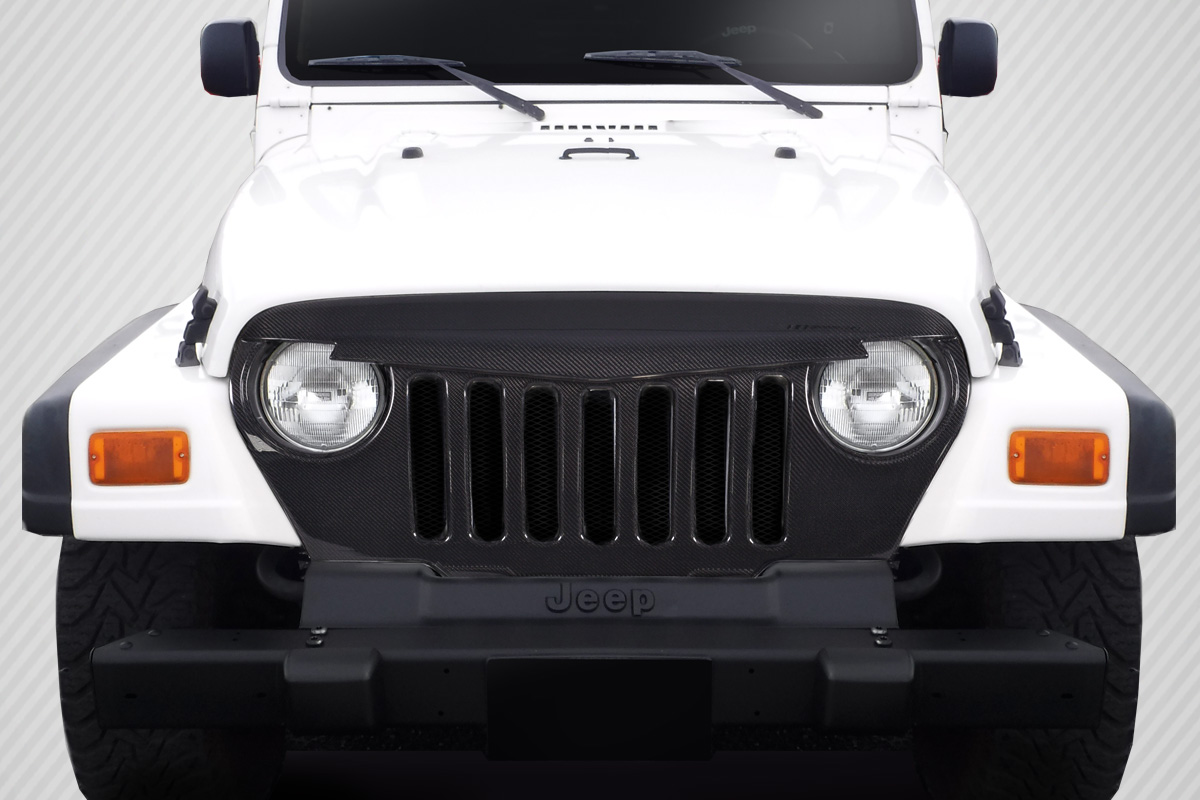 1997-2006 Jeep Wrangler Carbon Creations Predator Grille - 1 Piece