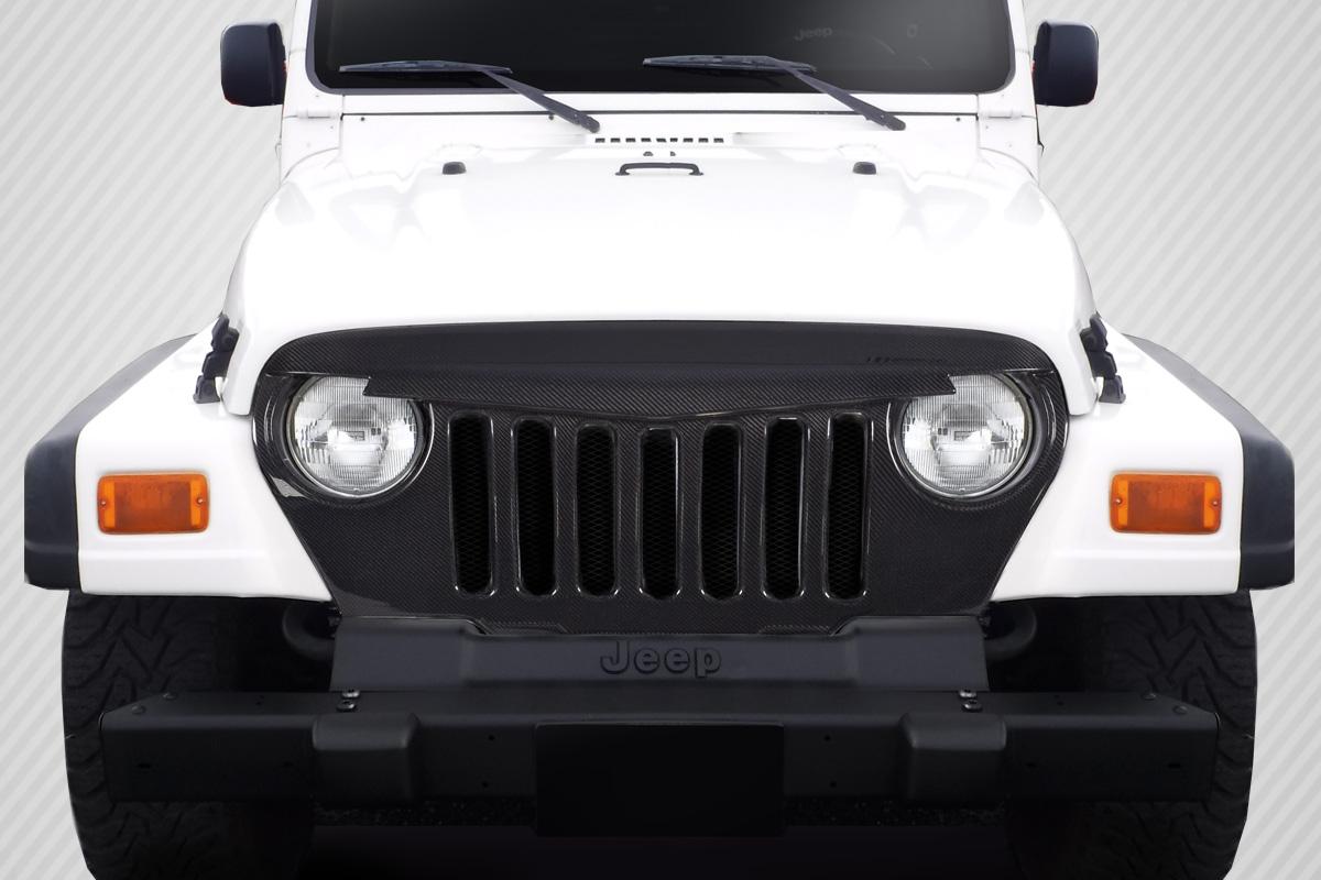 1997-2006 Jeep Wrangler Carbon Creations Predator Grille - 1 Piece