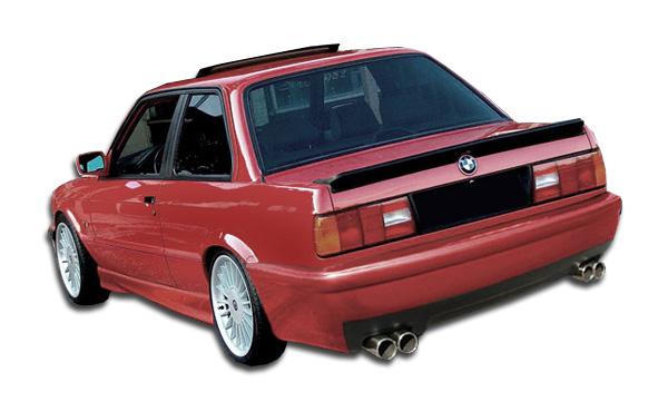 1984-1991 BMW 3 Series E30 2DR 4DR Duraflex CSL Look Rear Bumper Cover - 1 Piece