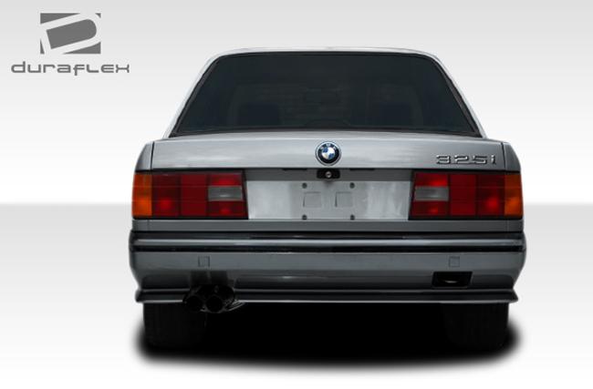 1984-1991 BMW 3 Series E30 2DR 4DR Duraflex Evo Look Rear Bumper Cover - 1 Piece